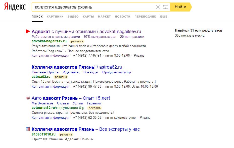 Как повысить эффективность рекламы в Яндекс Директ и Google Adwords на примере нашего проекта по адвокатуре и юридическим услугам